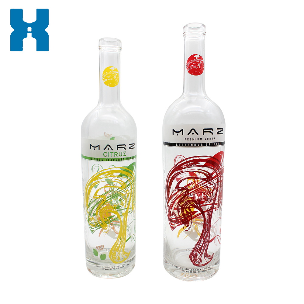 Customized Label 1000ml 750ml Vodka Glass Bottle