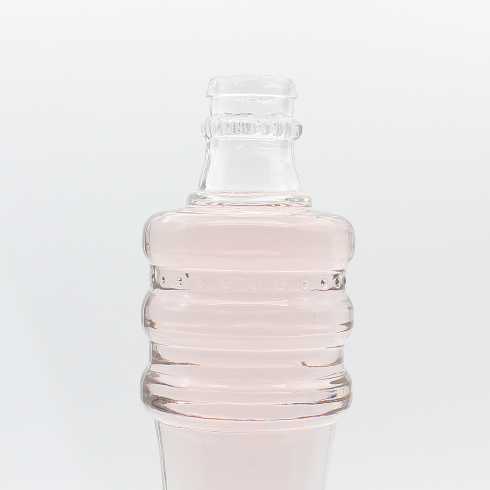 Custom Made 500ml Clear Spirit Glass Bottle Wholesale