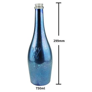 Electroplate 750ml Champagne Glass Bottle