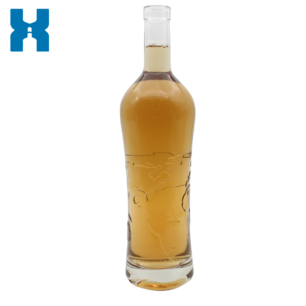 Spirit Bottle 750ml Clear Vodka Glass Bottle