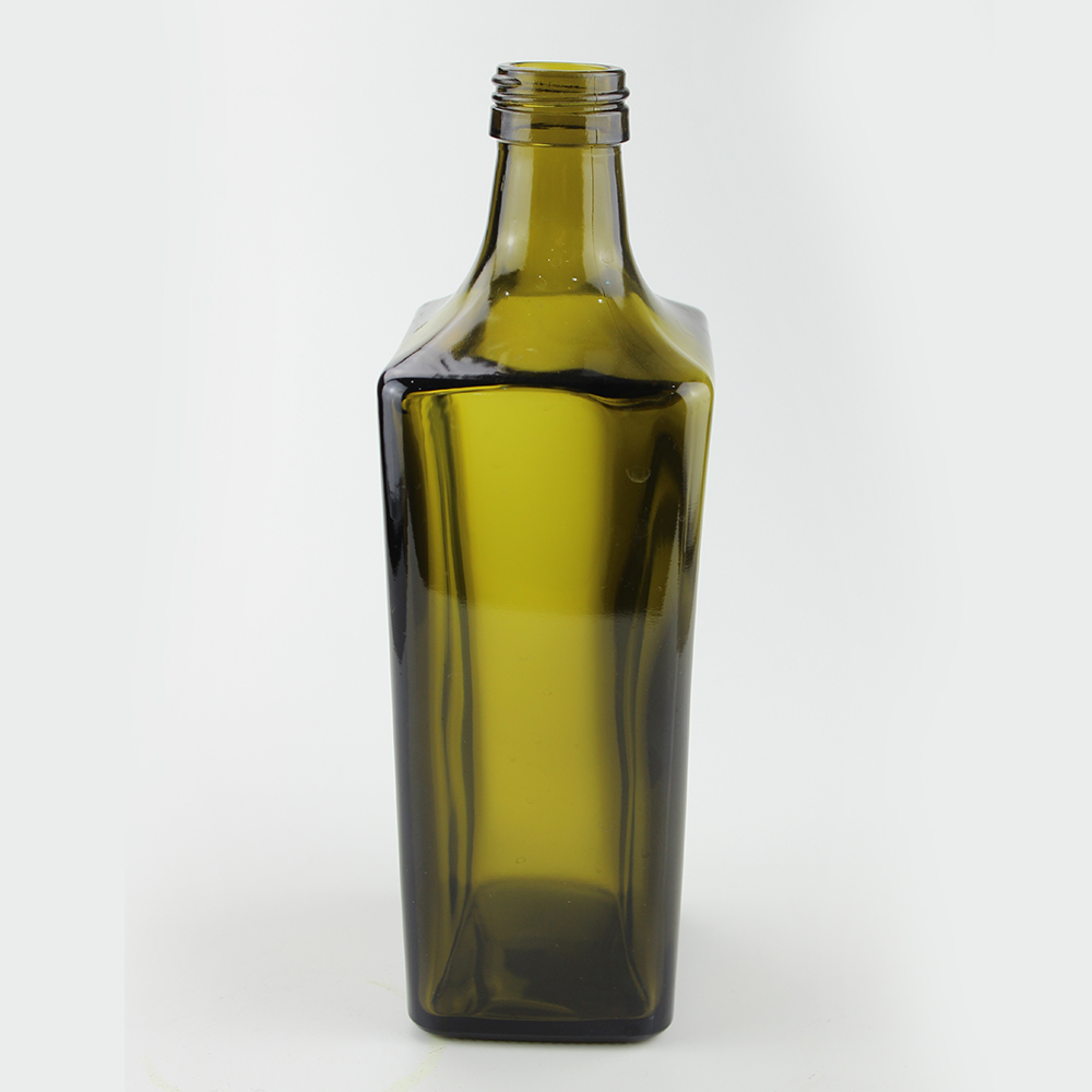 Square 750ml Spirit Glass Bottle