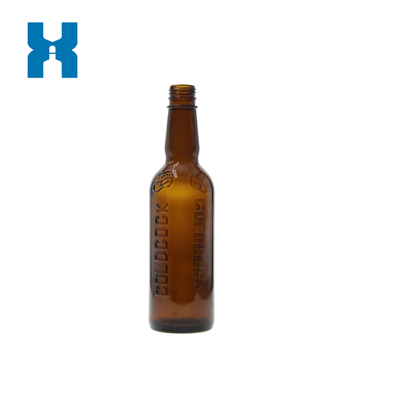 375ml Amber Glass Bottle for Whiskey