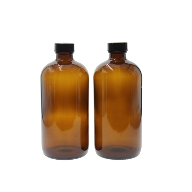 500ml Amber Glass Bottle for Spirits Round Glass Bottle