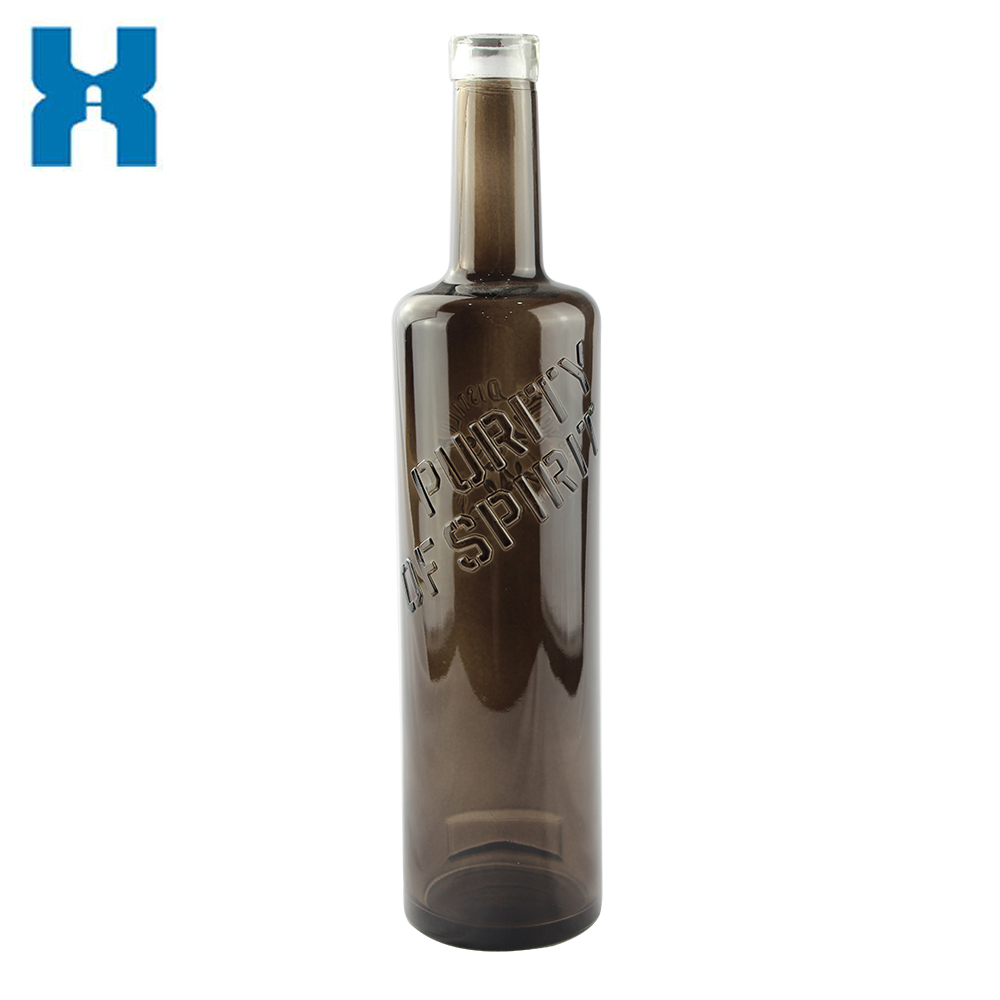 Printing 750ml Spirit Glass Bottle